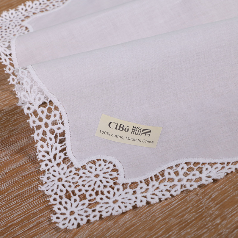 Aliexpress.com: Comprar A001: blanco premium algodón pañuelos 12 ...