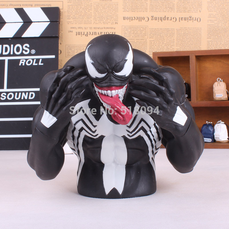 Spider-man Venom PVC Figure Collectible Toy Piggy Bank Save Money Box MVFG233