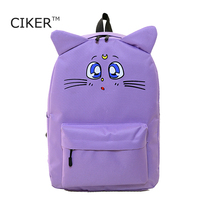 CIKER Harajuku Style Backpack Sailor Moon Nylon Backpack Cute Cat Shoulder Bag School Bags For Teenager