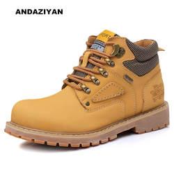 Рабочие ботинки в стиле ретро, Уличная Повседневная мужская обувь, Нескользящие теплые ботинки, модные шорты в европейском стиле