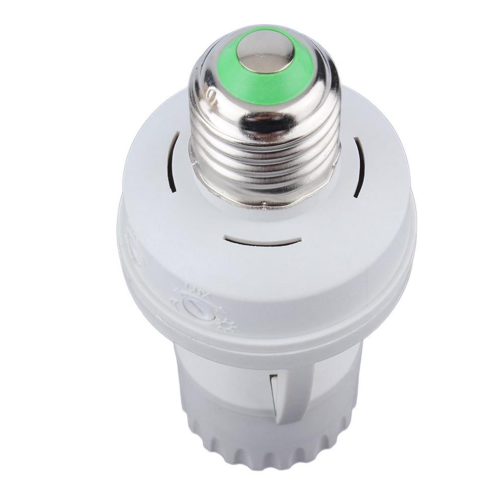 AC 110-220V 360 Degrees PIR Induction Motion Sensor IR infrared Human E27 Plug Socket Switch Base Led Bulb light Lamp Holder