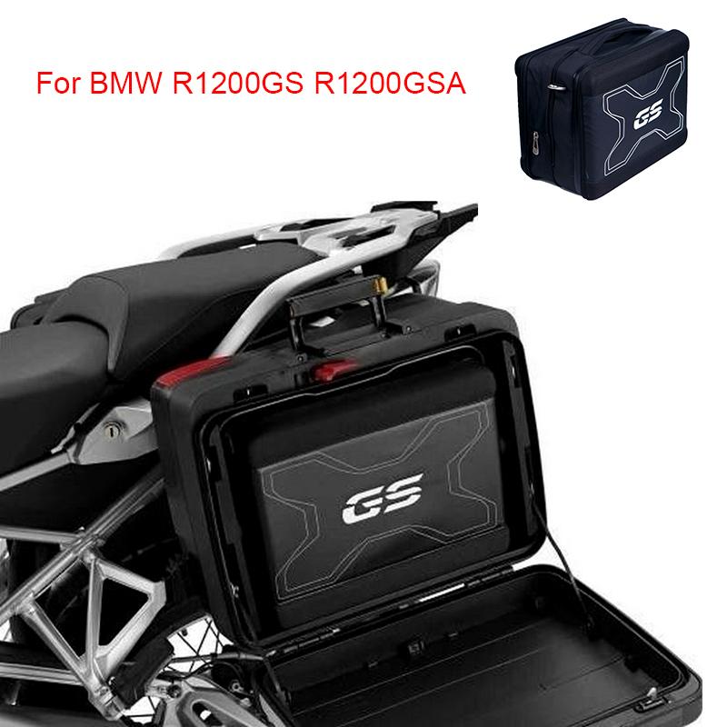 For BMW R1200GS R1200GSA Motorcycle Back Seat Bags Saddle Bags Side Tool Bag Carrier Systems 840D Nylonl Leather Suitcases