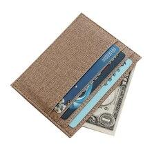 Blevolo Повседневное унисекс держателя карты Для мужчин Для женщин Холст карты посылка отделение для монет держателей кредитных карт, ID Чехол