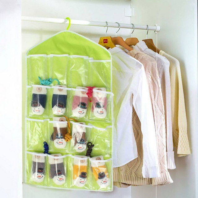 Wall Hanging Storage wall hanging storage bag 16 pockets wall door closet hanging