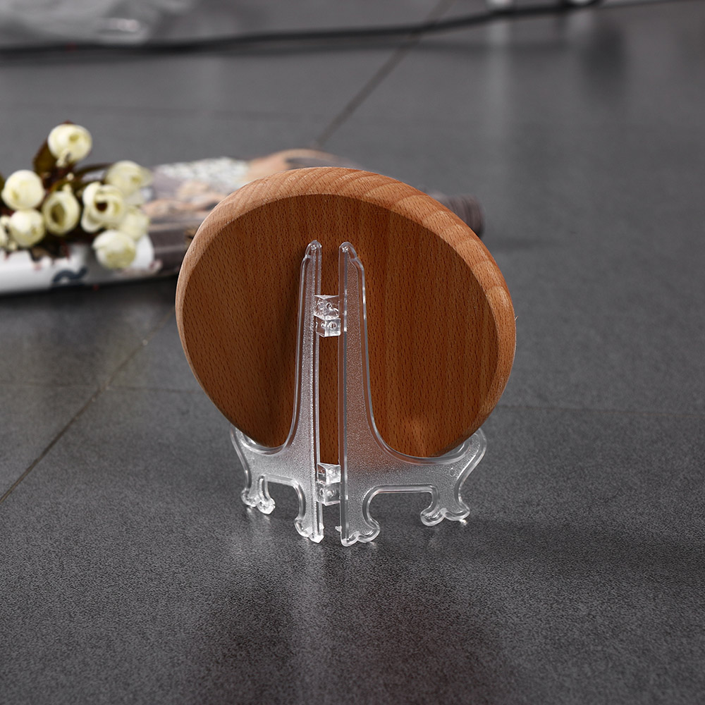 Clear Plastic Plate Display Stand Picture Frame Easel