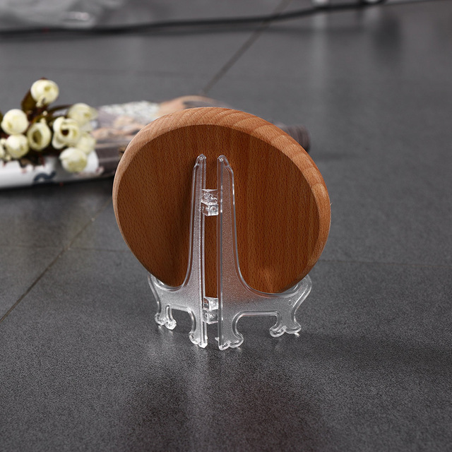 Clear Plastic Plate Display Stand Picture Frame Easel Holder 3 5 7 9 & Clear Plastic Plate Display Stand Picture Frame Easel Holder 3