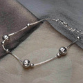 925 Silver Bracelet Female Jewelry Wholesale Korean Fashion Wild Beads Beads Bracelet 925 Silver With Laser Beads