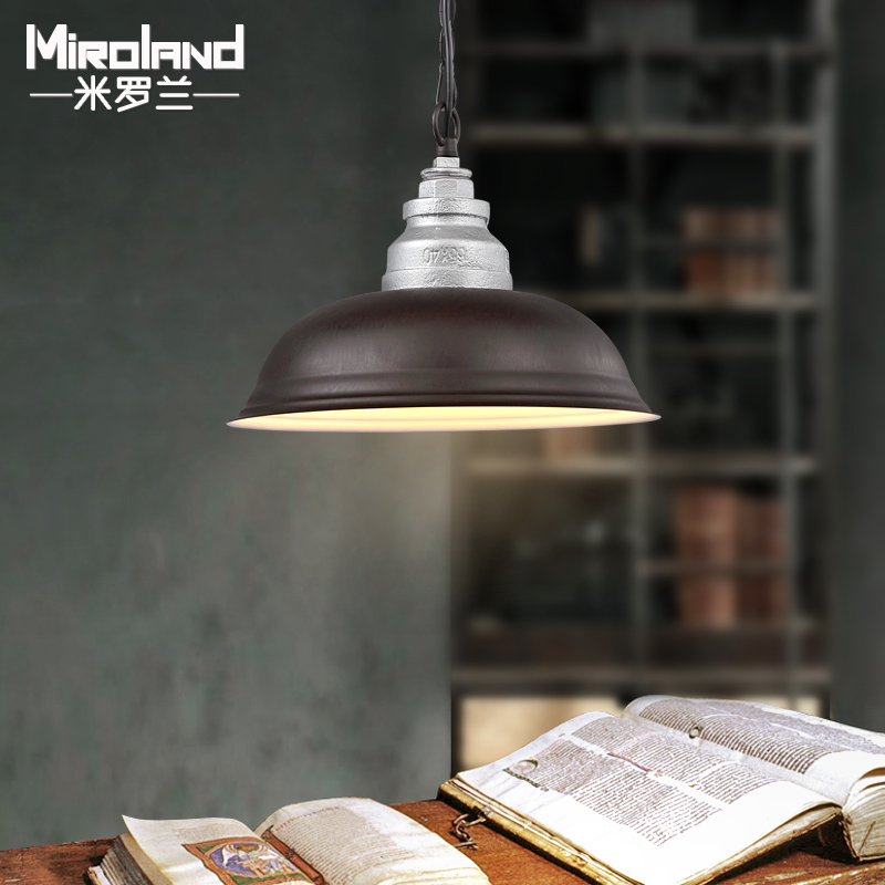 ФОТО Water pipe pandent lamp American Rural creative personality simple single head retro industrial Bar Restaurant Bar 38cm lighting