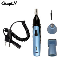 CkeyiN 3 В 1 Многофункциональный Аккумуляторная Борода Уха Носа Машинки Для Стрижки Волос Мужчины Женщины Электробритвы Очиститель Remover Машинка Для Стрижки Волос