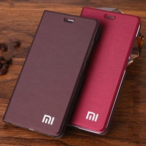 Image 1 - Xiaomi redmi 5Aケース高級スリムスタイルフリップ革財布ケースxiaomi redmi 5aカードホルダー電話バッグ