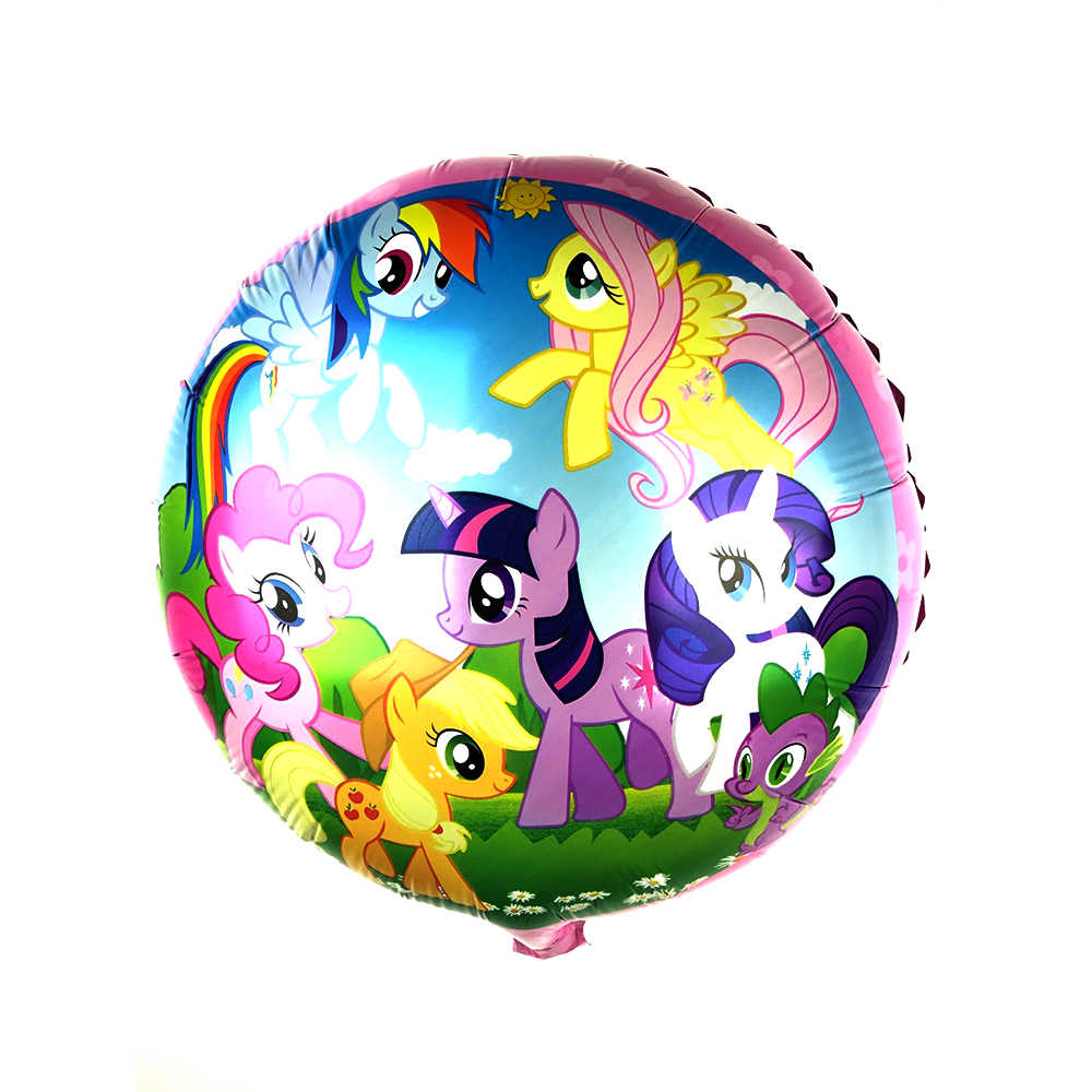 July Forest 1pcs Hot New Lovely Pony air balls Cartoon character  Foil Balloons birthday Party decorations kids toys