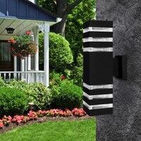 Modern Waterproof Up Down Lamp Aluminum Cuboid LED Wall Light Fixtures Wall Lamp Outdoor Lighting E27 AC 85 240V Garden ZBD0028