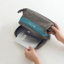 Fashion Double Cosmetic Bag Zipper Women Large Makeup Pouch Travel Multifunction Toiletries Organizer Beauty Case