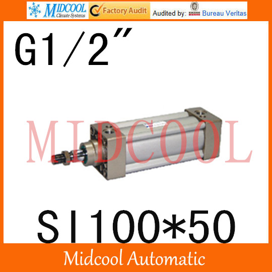 SI series ISO6431Standard cylinder SI100*50  port 1/2 bore 100mm Adjustable cylinder iso 100 в перми