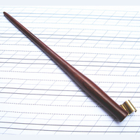 Hand Made Rose Wood Oblique Calligraphy Copperplate Script Hand Writing Dip Pen Holder with Adjustable Flange.
