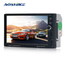 hot deal buy aoshike android car radio bluetooth 1 din car multimedia player 7 inch hd touch mp5 usb audio stereo with rear view camera