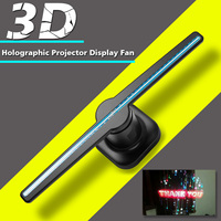 Smuxi 1pcs Portable 3D LED Holographic Projector Hologram Player Display Advertising Lights Fan Sale Free shipping