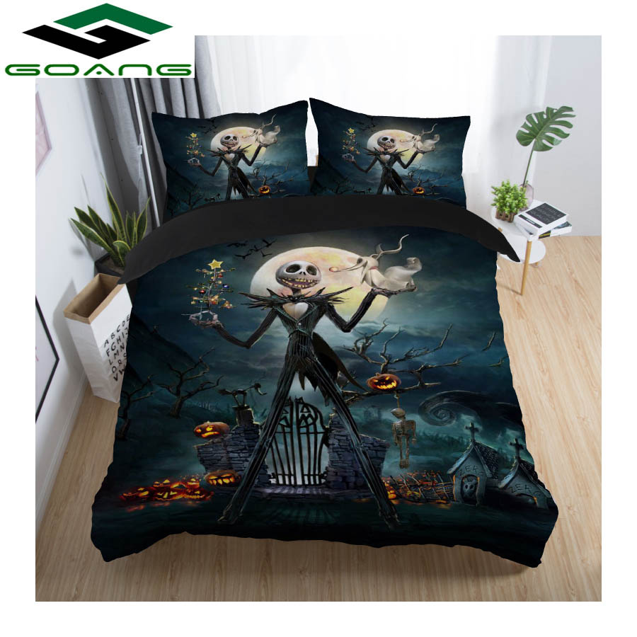 GOANG 3D Digital Printing Nightmare Before Christmas Duvet Cover Set Sally And Jack Bedding Set Luxury Home Textiles