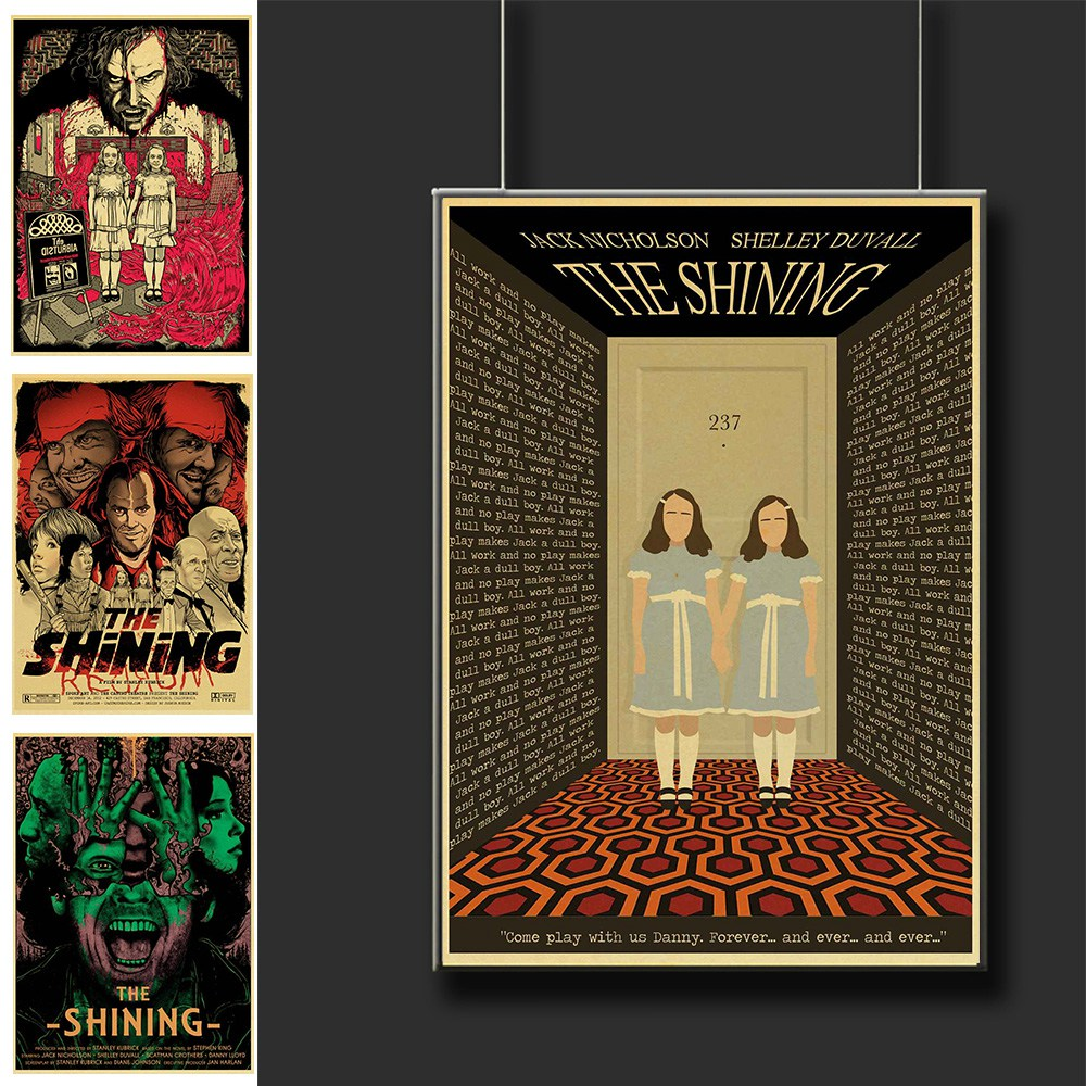 Vintage The Shining Horror Movie Poster Classic Terror Film Wall Posters For Home Room Decor Printed Painting Wall Sticker