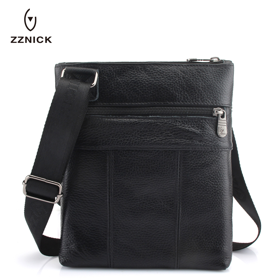 Image 2 - ZZNICK 2020 Genuine Leather Men Messenger Bag Hot Sale Male Small Man Fashion Crossbody Shoulder Bags Mens Travel New HandbagsCrossbody Bags   -