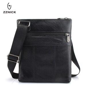 Image 2 - ZZNICK 2020 Genuine Leather Men Messenger Bag Hot Sale Male Small Man Fashion Crossbody Shoulder Bags Mens Travel New Handbags
