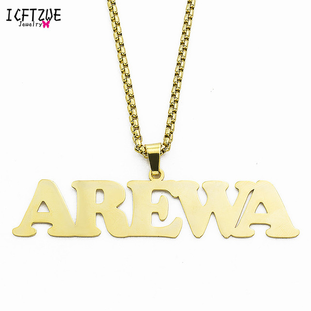 Custom Jewelry Personalized Name Necklaces Women Silver Gold Chain Choker Necklace For Men Handmade Accessories Christmas Gift