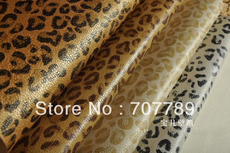 ФОТО Wallpaper papel parede Faux leather leopard print pvc waterproof  fitting room  personalized ktv