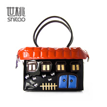 SHITAO Real Designer Handbags on Sale Small Italian Women PU Top-handle Bag in Discount Candy House Messenger Bag