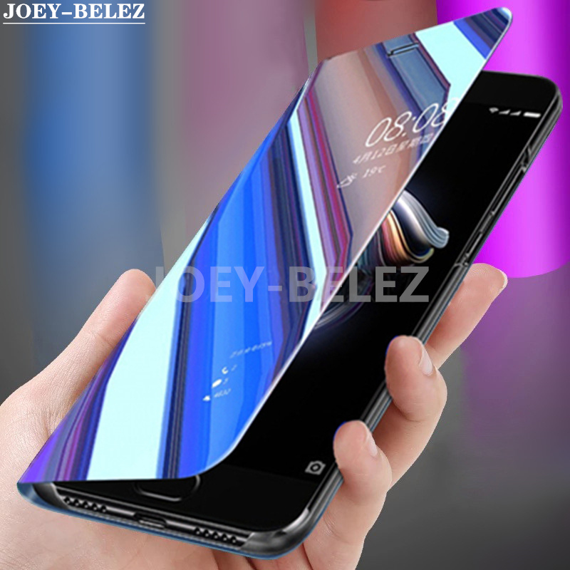 Clear Smart Mirror View Phone Case For Samsung A90 A80 A70 A60 A50 A40 A30 A20e A10 Flip Cover for Galaxy M10 M20 M30 Funda Capa