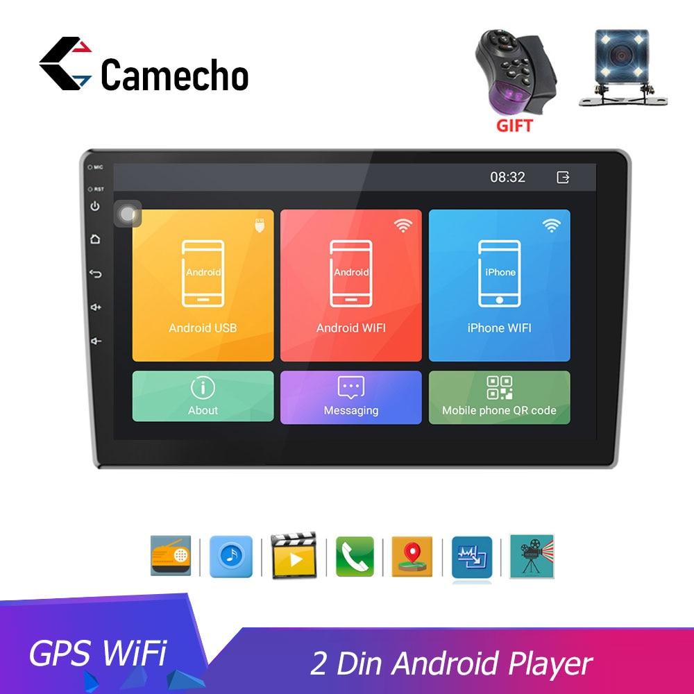Camecho Autoradio 2 din HD 10.1 ''ecran tactile Android Bluetooth lecteur Autoradio GPS WiFi caméra de recul MP5 lecteur Multimidio