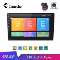 Camecho Autoradio 2 din HD 10,1 ''Touch Bildschirm Android Bluetooth Auto-Radio-Player GPS WiFi Rückansicht Kamera MP5 Multimidio player