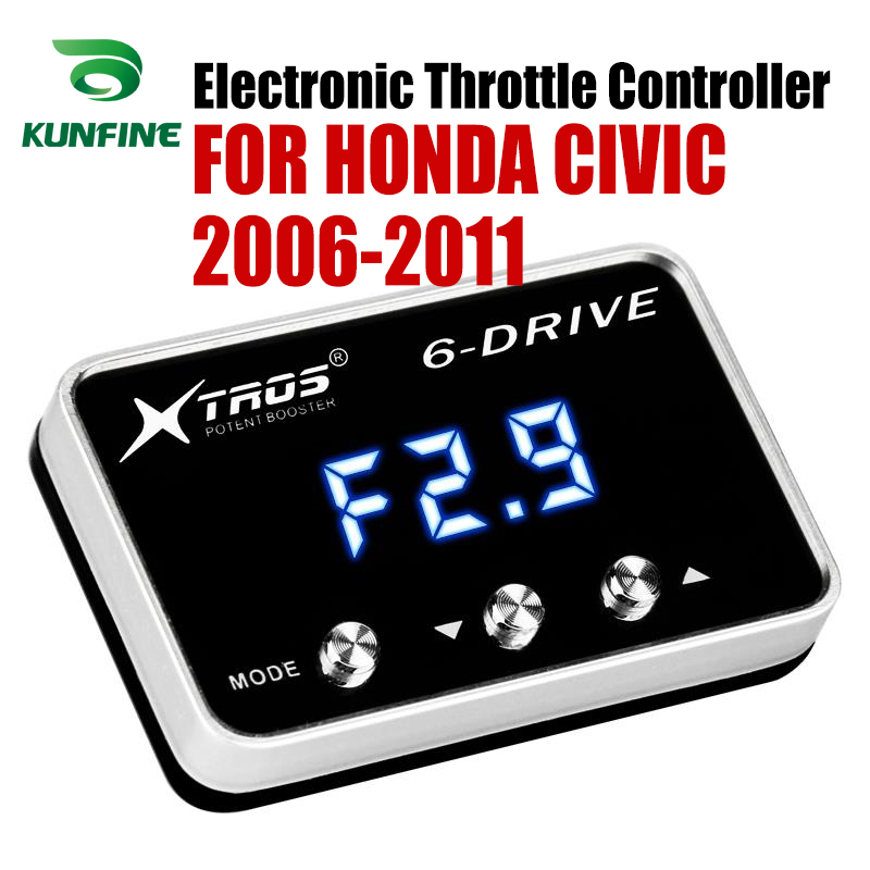 Car Electronic Throttle Controller Racing Accelerator Potent Booster For HONDA CIVIC 2006 2011 Tuning Parts Accessory