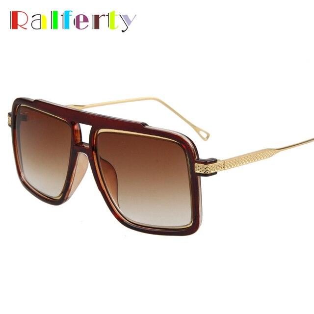 d1a5851b5b7 Ralferty Oversized Square Sunglasses Men Vintage Gradient Sun Glasses For  Men Male Anti uv Eyeglasses Gold