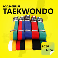Free Shipping Taekwondo Belt Colorful White Yellow Red Green Black Professional Divisa Level Tkd Martial Arts