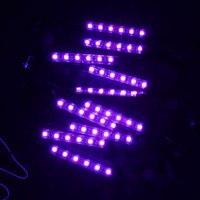 Vehemo Motosiklet LED Dekoratif Işık Şerit Yüksek Parlaklık Tekerlek Aydınlatma Lambaları Kiti