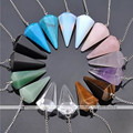High Quality 1 pc Natural Stone Crystal Faceted Wicca Pendulum Pyramid Healing Chakra Dowsing Pendant Fashionable Have 8 Styles