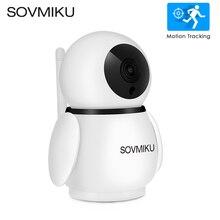 1080P bezprzewodowa kamera WIFI na podczerwień bezpieczeństwo w domu dwukierunkowy interkom aparat IP HD niania elektroniczna Baby Monitor automatyczne śledzenie kamera monitorująca