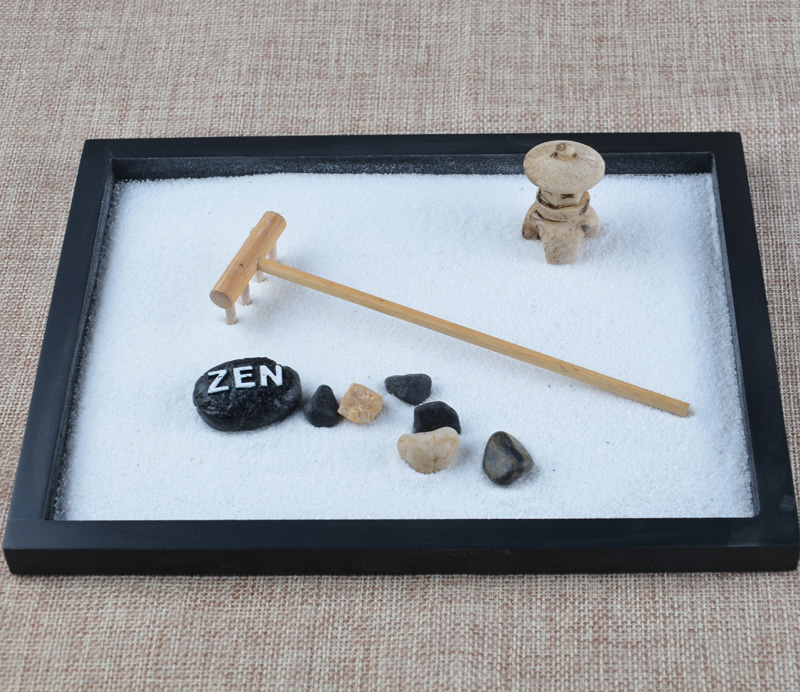 Aliexpress.com : Buy 2016 Fashion Wood Craft Zen Garden Sand Box Rake  Pebble Decor Office Feng Shui Ornaments Home Decoration Accessories Adult  Gift From ...