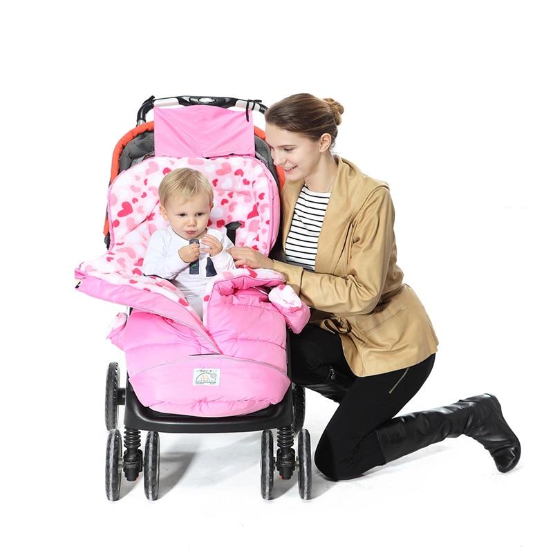 Cocoon for newborns Winter padded baby sleeping bag child anti-kick outdoor stroller sleeping bag поводок для собак happy house luxury цвет темно коричневый длина 125 см