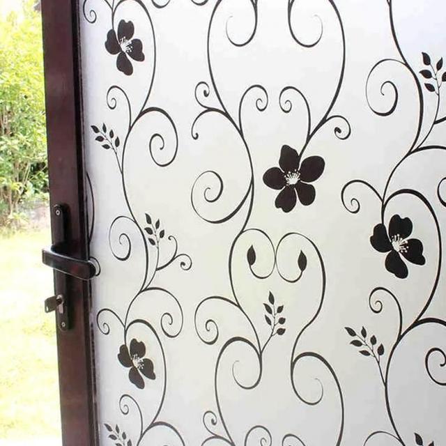 Flower Window Films Self Adhesive Film Bathroom Gl Sticker Home Shower Door
