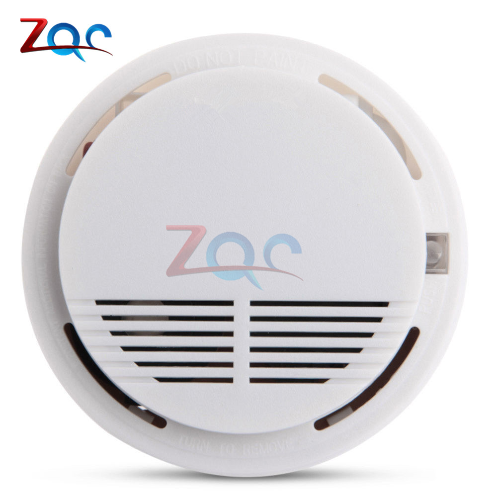 Smoke Detector Fire Alarm Sensor Monitor for Home Security Photoelectric Smoke Alarm Independent Smoke Sensor