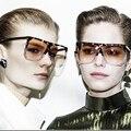 Nova Chegada de Grandes Dimensões óculos de Sol Quadrados Mulheres Flat Top óculos de Sol Espelho Homens Famoso Designer Da Marca Hipster Óculos de Sol Oculos
