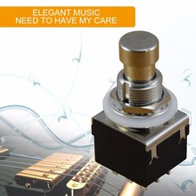 Professional Metal 3PDT Guitar Effects Pedal Switch Latching Stomp Push Button Musical Instrument Tools Accessory New
