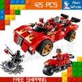 425 шт. Бела 9796 Новый 2016 X-1 Ниндзя Устройство Кай Строительные Блоки Устанавливает DIY Развивающие игрушки Кирпичи Совместимы с Lego