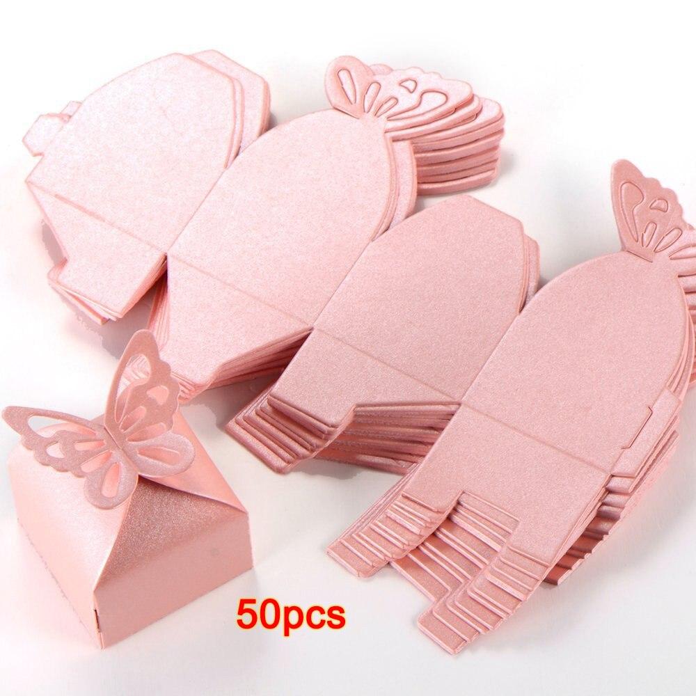 50 piezas de decoración de mariposa Boite a Dragees decoración de - Para fiestas y celebraciones