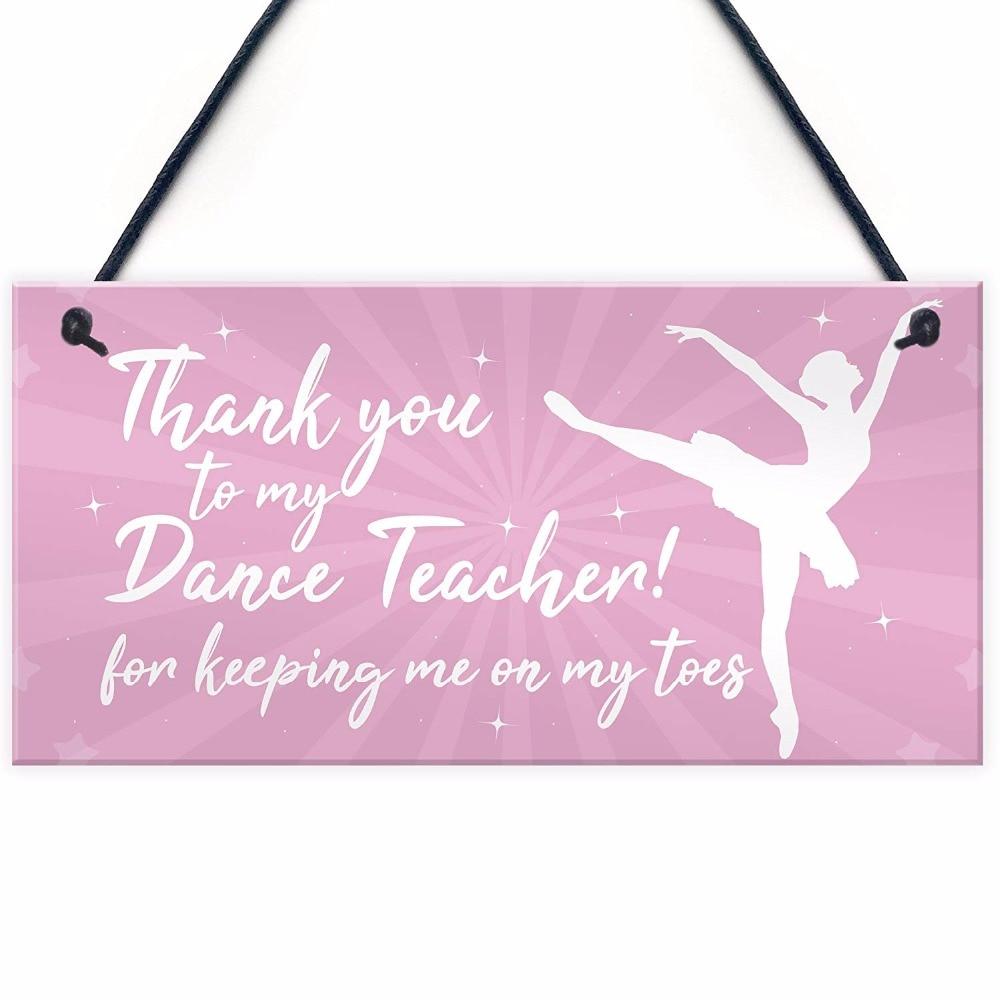 Meijiafei Thank You Dance Teacher Gift Hanging Plaque