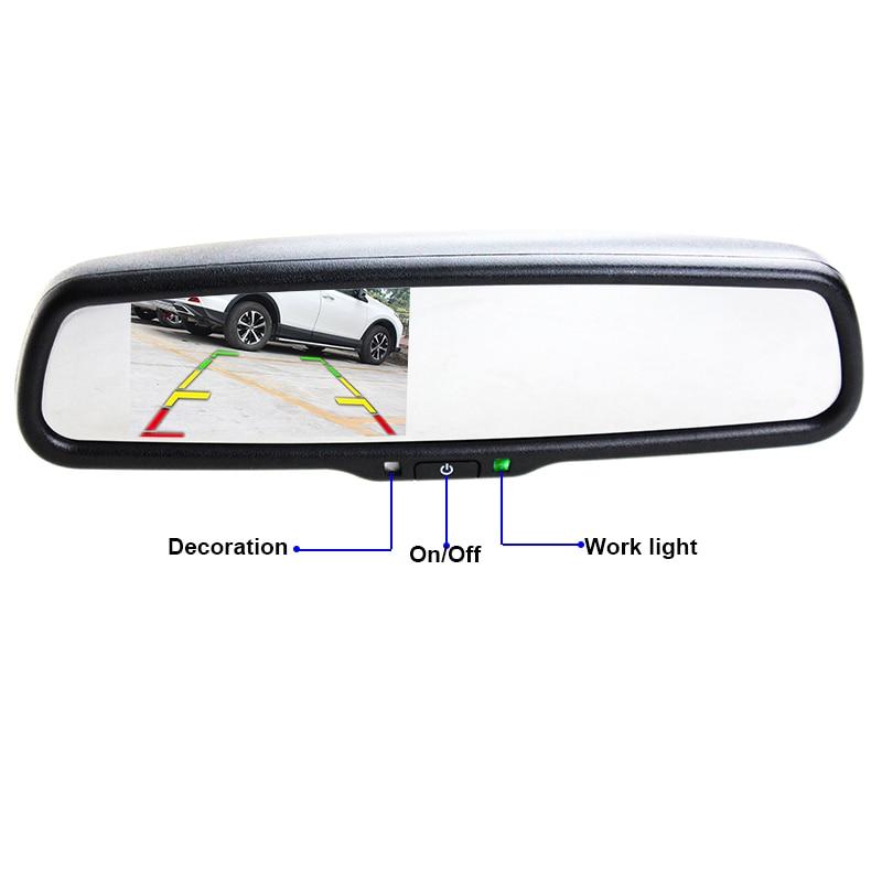 Suporte 4.3 Polegada HaiSunny Especial Espelho Retrovisor Do Carro Monitor de Suporte Kit Bluetooth Para VW Audi Kia Hyundai Com 2 de Entrada de vídeo - 2