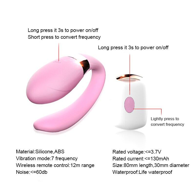 Dual Vibrating Wearable U Type G spot Dildo Vibrator for Couples Wireless Remote Clitoral Stimulator USB Charging Sex Vibrators