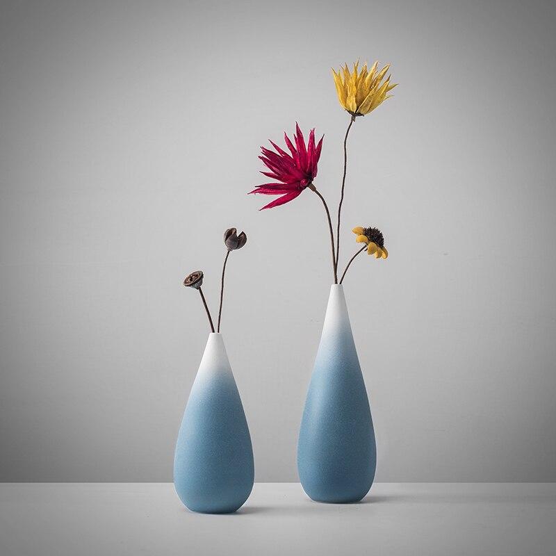 Cabinet Flower Vase Decor Design Ceramic Vase Color Changing Sky Blue Vase Contemporary Garden Vase Vases Aliexpress