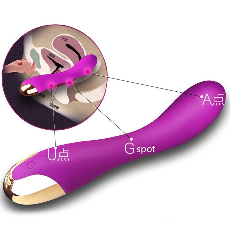 Produits de sexe Vibrateurs Femelle clitoris vagin stimuler 12 fréquence g-spot Godes vibrant masseur Sex Toy pour Femme Adulte jouets